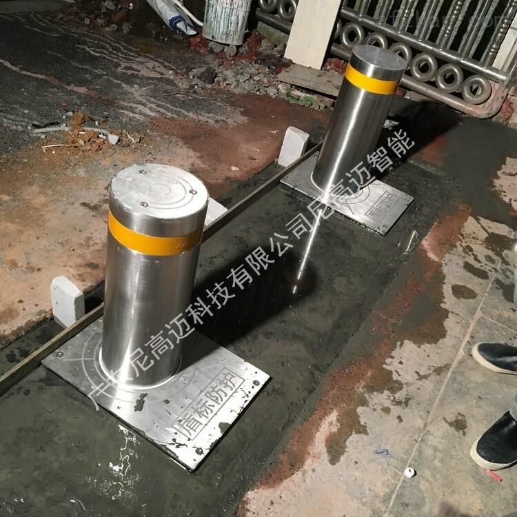 成品不锈钢全自动升降车挡 液压伸缩隔离桩