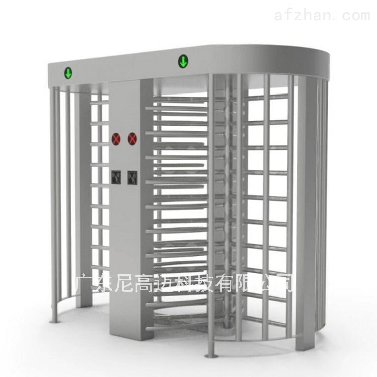 加厚管材电控智能双机芯立式全高旋转闸机