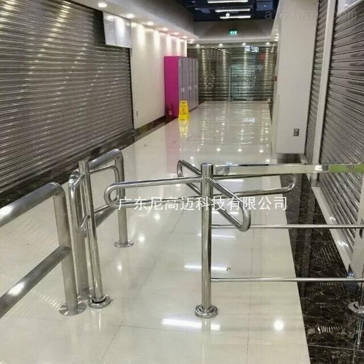 超市购物通道入口十字形不锈钢单向转闸机