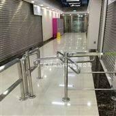NGM-Z010超市购物通道入口十字形不锈钢单向转闸机