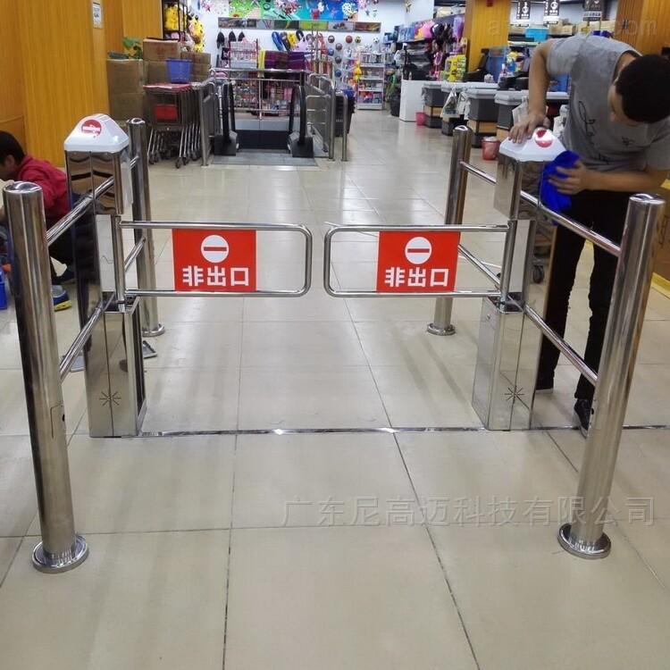超市通道不锈钢感应单向摆闸门