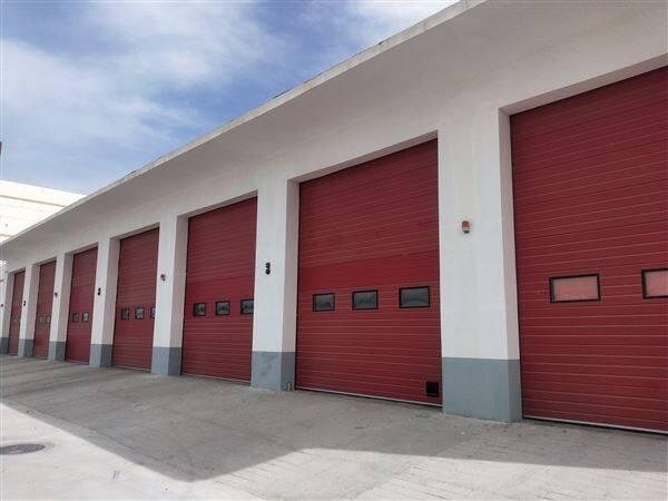 消防大队总控室一键联动车库门