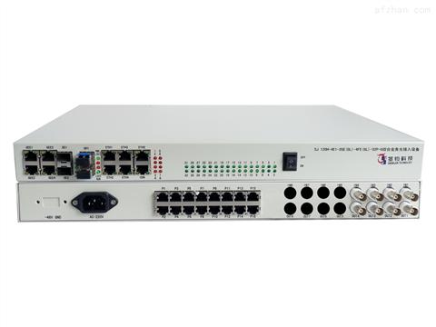 双光口保护4E1+2路物理隔离千兆网络+4路物理隔离百兆网络+32路业务接口综合业务光接入设备