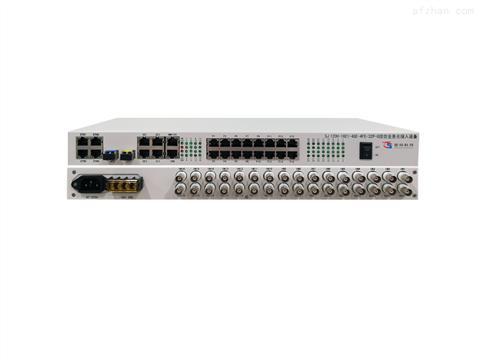 双光口保护16E1+4路千兆网络+4路百兆网络+32路业务接口综合业务光接入设备