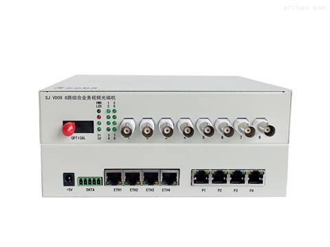 8路视频+4路百兆以太网+1-2路数据+8路业务槽位