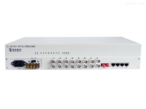 8E1+4路物理隔离百兆网络光端机