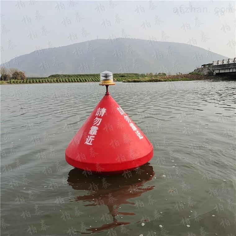 航道建设施工核心区拦船禁航浮标